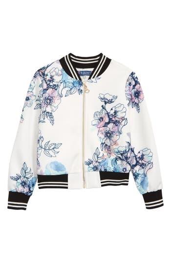 Girls Truly Me Embellished Floral Bomber Jacket