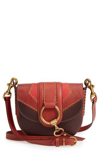 Frye Small Ilana Colorblock Leather Saddle Bag