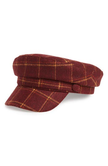 Treasure & Bond Menswear Plaid Baker Boy Hat