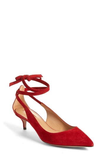 AQUAZZURA MILANO ANKLE WRAP PUMP