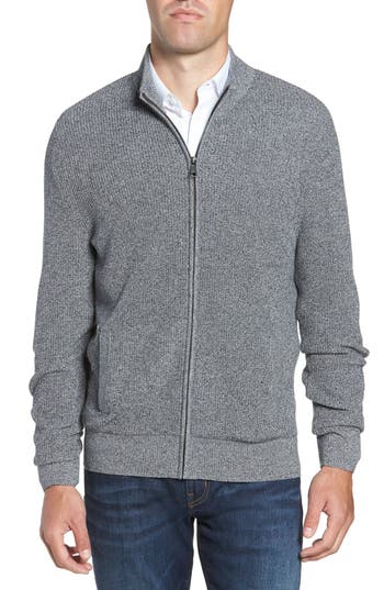 Nordstrom Men's Shop Marled Mock Neck Zip Sweater