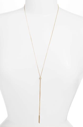 Nordstrom Pavé Slide Lariat Necklace