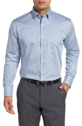 Men's Peter Millar Diamond In The Rough Regular Fit Sport Shirt, Size Small - Blue