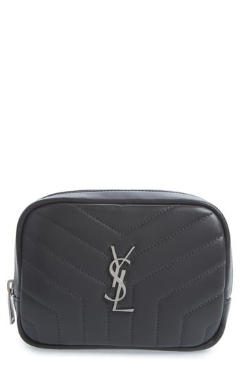 Saint Laurent Loulou Matelassé Leather Cosmetics Bag