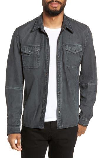 John Varvatos Star USA Snap Sheepskin Shirt Jacket