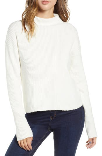BP. Ribbed Funnel Neck Sweater