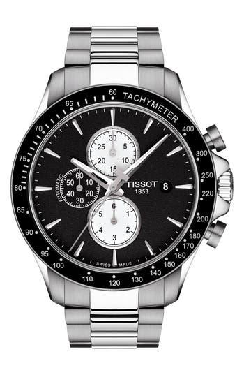 Tissot V8 Automatic Chronograph Bracelet Watch, 45mm