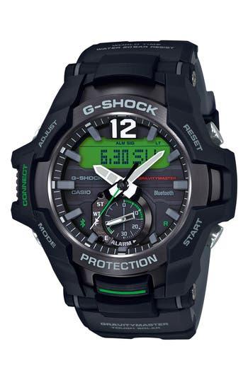 G-Shock GravityMaster Ana-Digi Bluetooth® Enabled Resin Strap Watch, 49mm