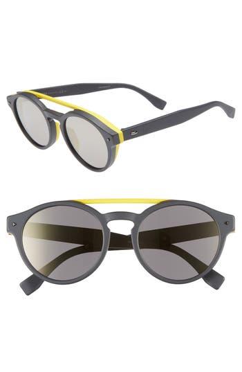 Fendi 53mm Special Fit Round Sunglasses