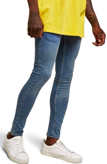 Topman Spray-On Skinny Fit Jeans