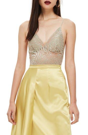 Topshop Scallop Lace Plunge Bodysuit