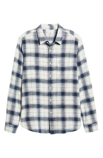 Men's Ag Colton Plaid Slim Fit Sport Shirt, Size Small - Blue