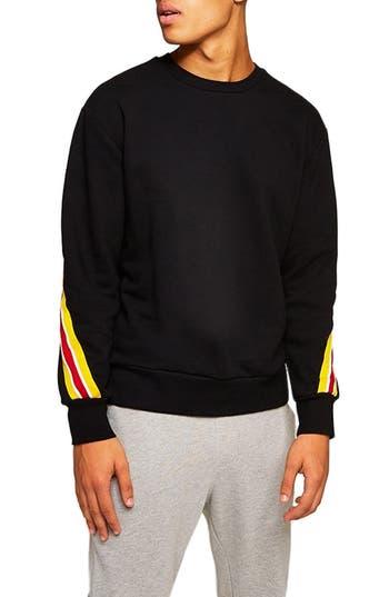 Topman Back Taping Classic Fit Sweatshirt