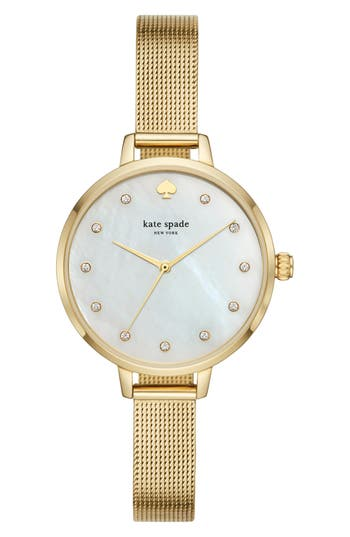 kate spade new york metro mesh bracelet watch, 34mm