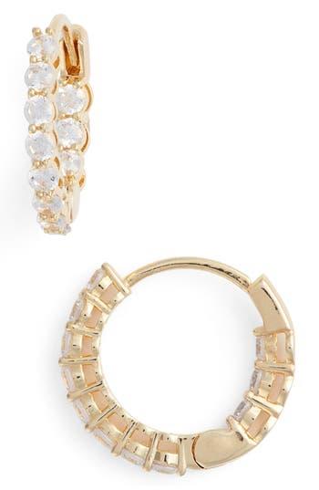 Nordstrom Crystal Huggie Hoop Earrings