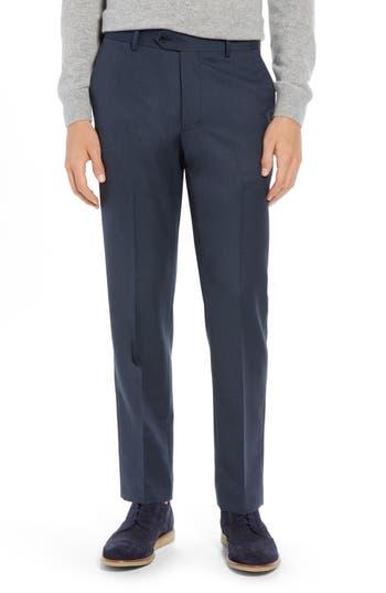 Nordstrom Men's Shop Trim Fit Flat Front Wool Blend Pants