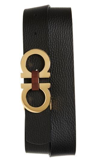 Salvatore Ferragamo Reversible Gancini Buckle Leather Belt