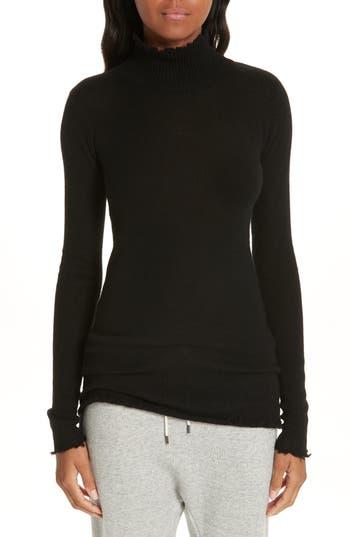 R13 Distressed Cashmere Turtleneck Sweater