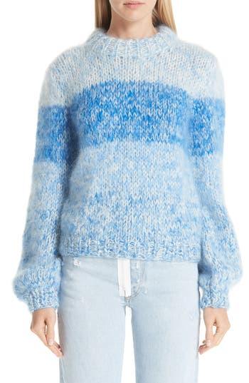 Ganni Julliard Stripe Mohair & Wool Sweater