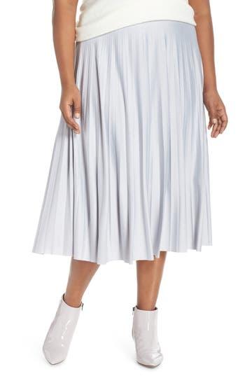 Halogen® Pleated Midi Skirt