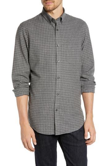 Nordstrom Men's Shop Trim Fit Brushed Windowpane Sport Shirt