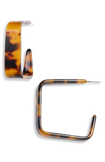 Halogen® Resin Square Hoop Earrings