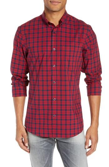 Nordstrom Men's Shop Tech-Smart Slim Fit Plaid Sport Shirt