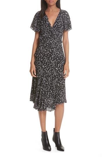 Joie Orita Ruffled Floral Midi Dress