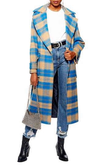 Topshop Vera Check Coat
