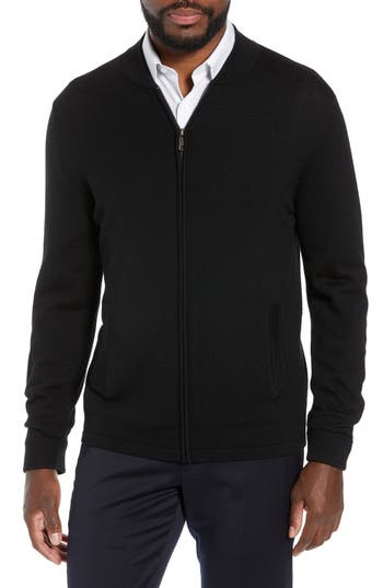 Nordstrom Signature Merino Wool Blend Zip Cardigan
