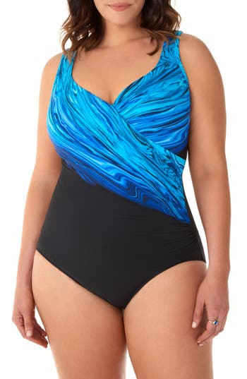 Miraclesuit® Blue Pointe It's a Wrap One-Piece Swimsuit