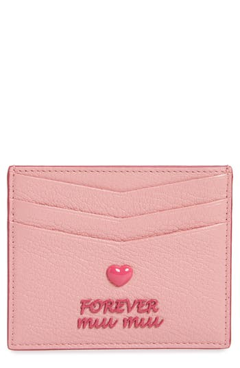 Miu Miu Madras Forever Leather Card Case