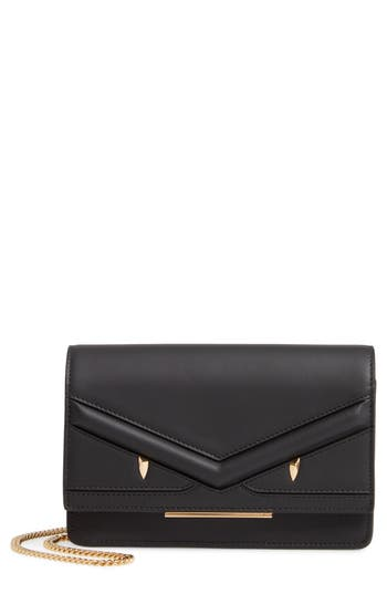 Fendi Wonder Monster Calfskin Leather Wallet on a Chain