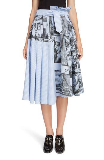 JW Anderson Dürer Scene Print Stripe Skirt