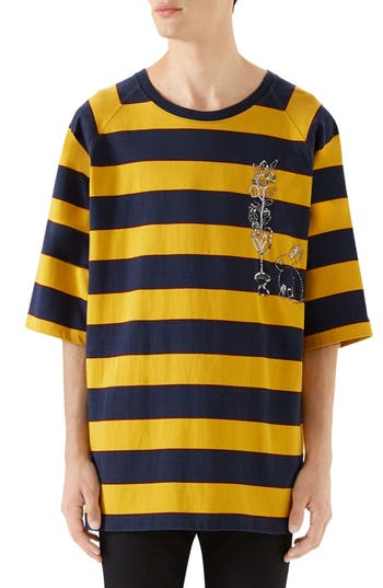 Gucci Stripe Crewneck T-Shirt