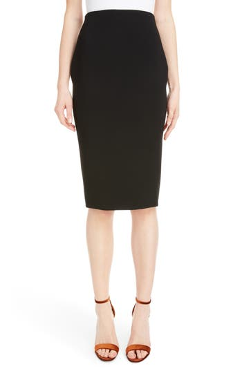 Victoria Beckham Back Zip Pencil Skirt