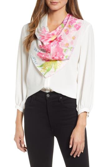 kate spade new york deli flowers square silk scarf