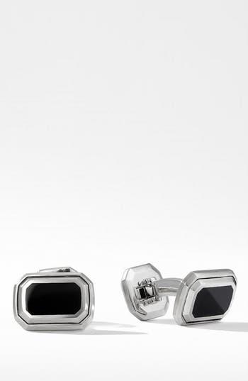 David Yurman Deco Cuffl Links with Black Onyx