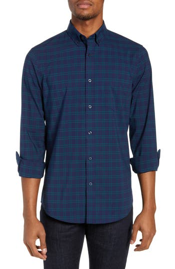 Nordstrom Men's Shop Tech-Smart Slim Fit Check Sport Shirt