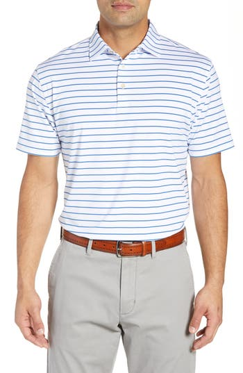 Peter Millar Market Stripe Regular Fit Stretch Polo