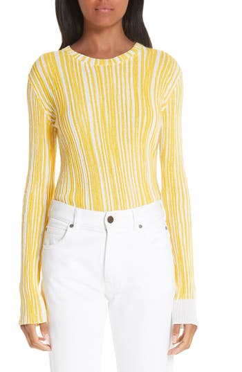 CALVIN KLEIN 205W39NYC Stripe Rib Knit Sweater