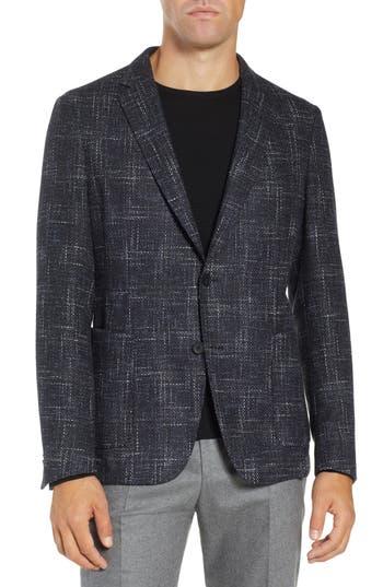 BOSS Nold Slim Fit Plaid Wool Blend Sport Coat