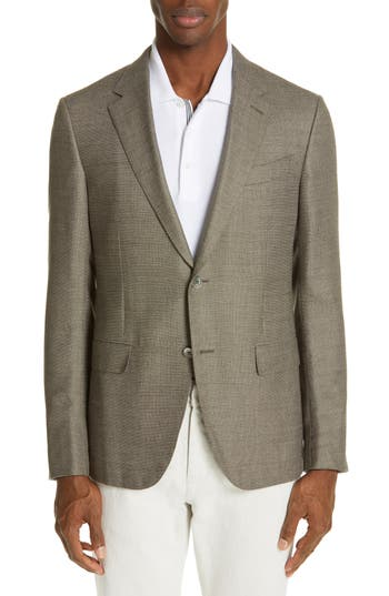 Ermenegildo Zegna Milano Trim Fit Solid Wool Blend Sport Coat