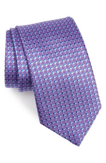 David Donahue Geo Print Silk X-Long Tie
