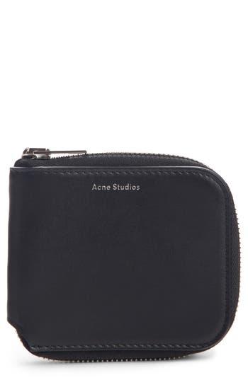 Acne Studios Kei S Zip Around Leather Wallet