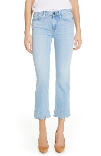 FRAME Le Crop Mini Boot Scallop Hem Jeans