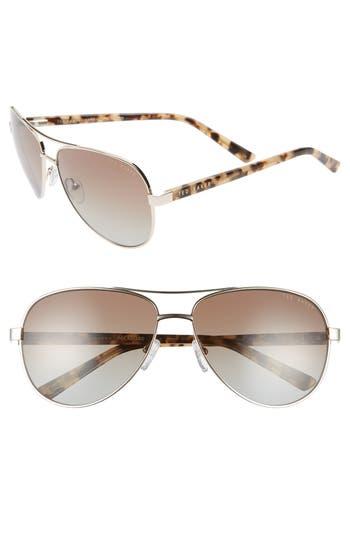 Ted Baker London 60mm Polarized Aviator Sunglasses