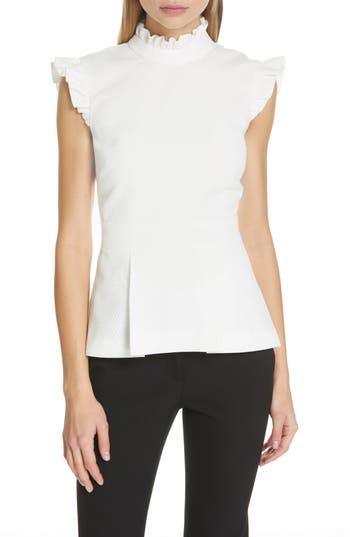 Ted Baker London Ruffle Bubble Texture Top