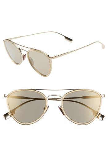 Burberry 51mm Aviator Sunglasses