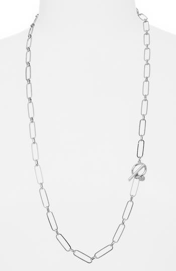 Halogen® Convertible Chain Link Linear Necklace